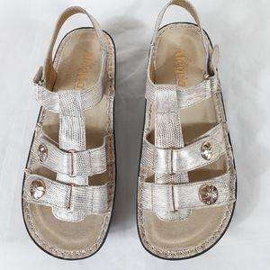 Alegria PGLite KLE-293 Gold Women's Sandals Sze 10
